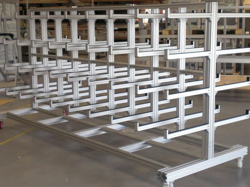 Industrial Pipe Storage Trolleyoffice Aluminium Enclosure