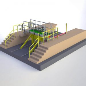 drawbridge working platform