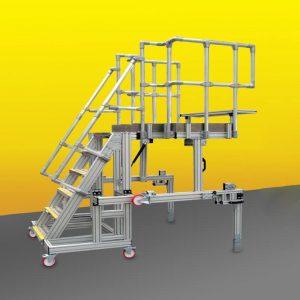 folded work platform