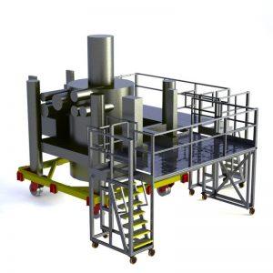 height adjustable work platform