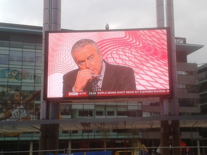 Media City Led Screen Screen Supports