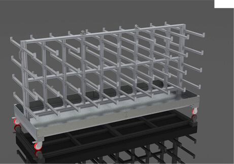 pipe storage trolleys