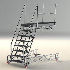 work platform steps stairs