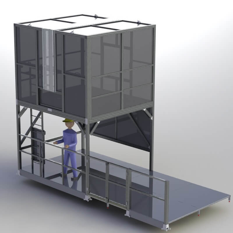 pulling rig platform encloseure