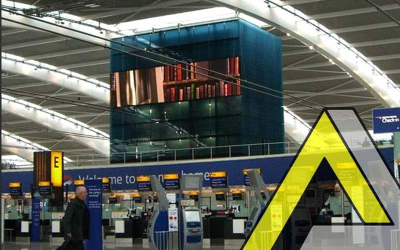 screen using an aluminium support structure